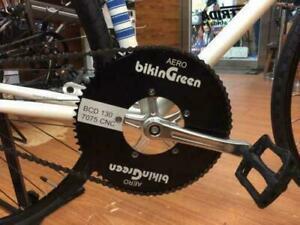 Bikingreen 70T BCD130 Recumbent Chainring CNC 7075 Road Fixie Aero TT Black
