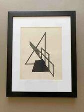 Rare authentic Suprematist Lajos Kassak gouache drawing #1 Constructivism 1920s