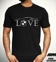 Love BMW  T Shirt Car Owner Road Racer Gift tee Mpower Mens Gift Tee Top S - 3XL