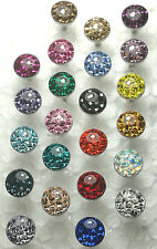 Tongue Ring 14g Crystal Pave With Epoxy Coated Preciosa Czech Cryatal 23Pcs/1Lot