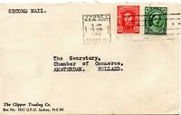 1945 Australia Cover - The Clipper Trading Co to Amsterdam Chamber of Commerce