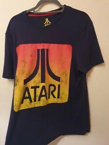 Mens Navy retro Atari T Shirt Large short sleeve gamer tee shirt DIFUZED