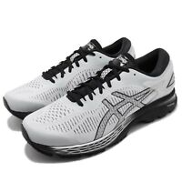 Asics Gel-Kayano 25 2E Wide Grey Black Men Running Shoes Sneakers 1011A029-021
