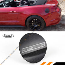 For 15-17 Ford Mustang GT350 Carbon Fiber Texture Add-on Gas Fuel Door Cover Cap