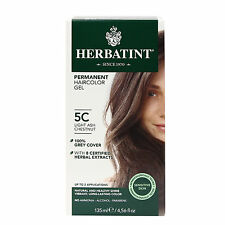Herbatint Permanent Herbal Hair Color Gel, 5C Light Ash Chestnut, 4.56 Ounce