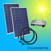 Solaranlage Komplettpaket 500Watt 0,5 KW Solar Anlage Hausnetzeinspeisung Plug