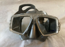 Zeagle Gray Tempered Glass Dive Mask Adjustable Strap Worn Just One Time