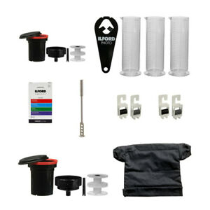 Patterson & Ilford Film Processing Kit with Extra Developing Tanks Reels Bundle