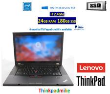 Lenovo Thinkpad W530 i7 2.40Ghz 24GB RAM 180GB SSD NVDIA Quadro - WIN 10 PRO