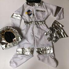 3 Pc Melissa & Doug Astronaut Space Role Play Costume Set Sz 3 4 5 6 Gloves Hat