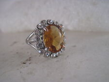 Fashion  ladies   Ring size  8   with   stone  open back (5m18  17)