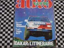 revue PARIS-DAKAR 1987 / AUTO-VERTE N° 68 / POSTER PARCOURS