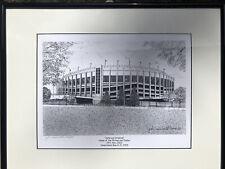 "Philadelphia's Veterans Stadium Original Pencil Framed Drawing Print 16"" x 20"""