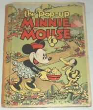 1933 1ST ED. THE POP-UP MINNIE MOUSE by WALT DISNEY STUDIOS w/ 3 COLOR POP-UPS