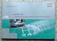 AUDI A4 / S4 Car Owner's Manual Handbook Aug 1999 #201 561 8D0 20