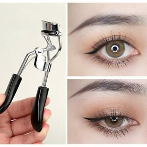 Professional Eyelash Curler Refill Pad Curling Beauty Tool Chrome Rubber Handles