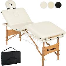 Table de Massage Pliante Bois 4 Zones Lit de Massage Portable Cosmétique + Sac