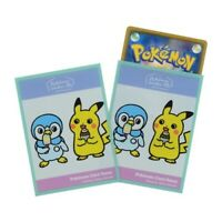 Pokemon center JAPAN - Piplup & Pikachu Card Deck Shields (64 Sleeves)