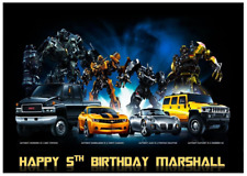 TRANSFORMERS PERSONALISED Edible A4 Cake Icing Sheet Topper Images