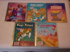 """LITTLE GOLDEN BOOK LOT OF 5 - ALL ARE """"A"""" FIRST PRINTING"""