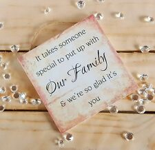 christmas plaques sign gift present special our family daughter-in-law step-dad