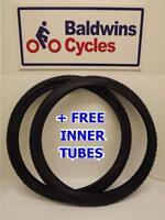 "ONE PAIR 26"" x 2.10 Mountain Bike Bike Tyres (54-559) + 2 FREE INNER TUBES"