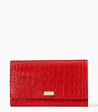 Kate Spade New York Wallet Travel Phoenix Bristol Drive Red NEW $278