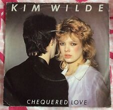 """KIM WILDE,CHEQUERED LOVE,SHANE,VINTAGE 7"""" 45rpm,RECORD IN GREAT CONDITION."""