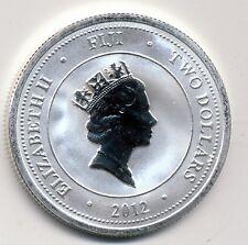 2012 NEW ZEALAND, FIJI TAKU BU  PROOF LIKE, SILVER $2 COIN 1 OZ SILVER ,KM #151