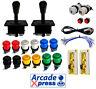 Kit Joysticks Arcade Americanos Negros 12 botones + 2 player Retropie Usb Bartop