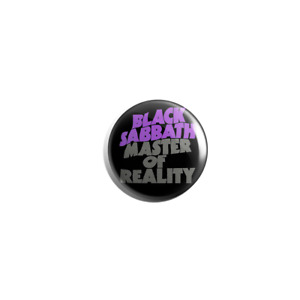 Black Sabbath Master Of Reality 38mm pin badge button
