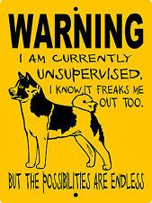 """Akita Dog Sign,9""""x12"""" Aluminum,Guard Dog Sign,Akita Dog Decal,Dog Sign,Wusakita"""