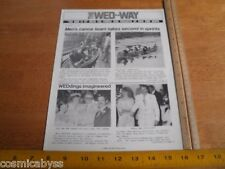 Disney The Wed Way Mapo Employees mag 1978 Canoe Races paddlers Disneyland