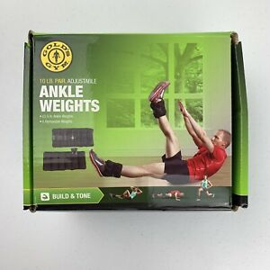 Gold's Gym 20 lbs Pair (10 lbs each) Adjustable Ankle Weights Open Box