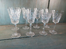 8 verres pied vin ou eau ancien cristal art de la table french antique