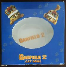 Garfield 2 Melamine Cat Bowl Brand New In Box
