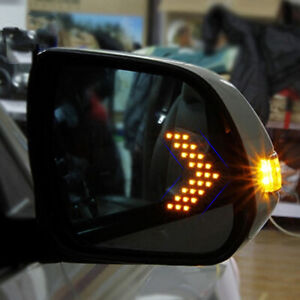 2x Auto Car Side Rear View Mirror 14-SMD LED Lamp Turn Signal Light Accessories