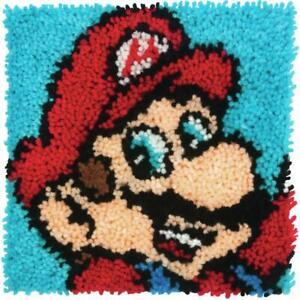 "Dimensions Latch Hook Kit 12"" X 12"", Super Mario Bros"
