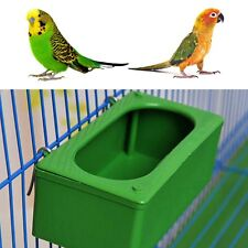 Plastic Green Food Water Bowl Cups Parrot Bird Pigeons Cage Cup Feeder Feeding