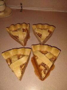 4 pieces of fake pie