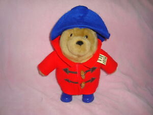 "Paddington Bear Plush 11"" 2005 Augusta du Bay Red Coat"