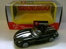 BURAGO 1:43 DIE CAST MADE IN ITALY DODGE VIPER RT/10 NERO ART 4105
