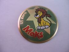 Vintage Foreign Pin Button: MAKS ZORA Lion