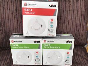 2 x Aico Smoke Alarm + 1 Aico Heat Alarm