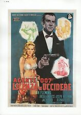 "2002 Vintage JAMES BOND ""DR. NO"" ITALIAN MINI POSTER Art Plate Lithograph"