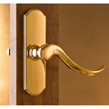 "Normandy Storm Door Handle Set ONLY- Bright Brass Handle -1-1/2"" Thick Door"