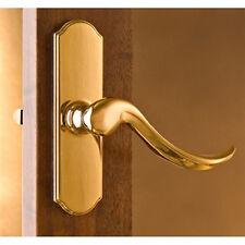 """Normandy Storm Door Handle Set ONLY- Bright Brass Handle -1-1/2"""" Thick Door"""
