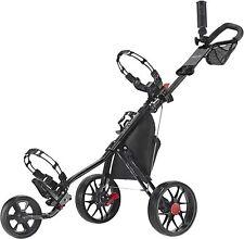 CaddyTek Deluxe 3 Wheel Golf Push Pull Cart V3, CaddyLite 11.5 V3 Black