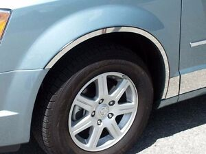 Fits Dodge Grand Caravan 08-17 Stainless Polished Chrome Tape On Fender Trims