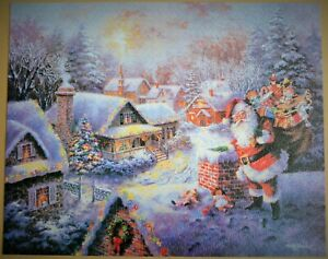 RARE USA IMPORTED BRINGING JOY & HAPPINESS CHRISTMAS 1000 PIECE PUZZLE COMPLETE